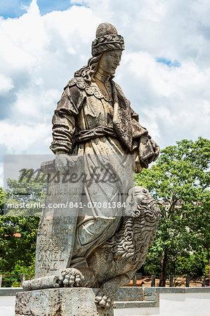 Statue of the Prophet Daniel, Santuario de Bom Jesus de Matosinhos, Aleijandinho masterpiece, Congonhas do Campo, UNESCO World Heritage Site, Minas Gerais, Brazil, South America