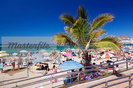 Playa de las Canteras, Las Palmas, Gran Canaria, Canary Islands, Spain, Atlantic, Europe