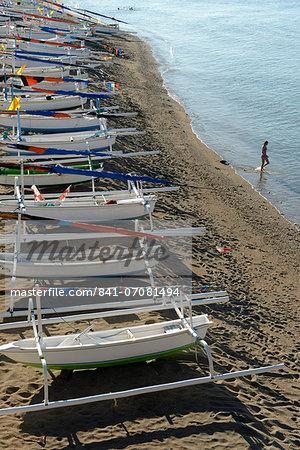 Fishing boats, Amed, Bali, Indonesia, Southeast Asia, Asia