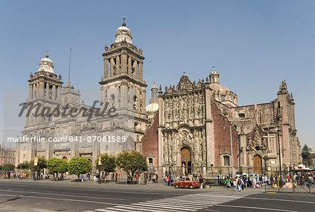 Catedral Metropolitana, Zocalo (Plaza de la Constitucion), Mexico City, Mexico, North America