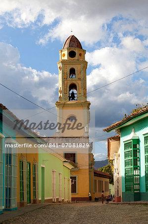 Belltower of The Convento de San Francisco de Asis, UNESCO World Heritage Site, Trinidad, Cuba, West Indies, Central America