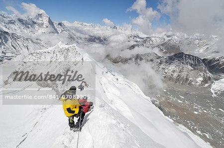 Island Peak Trekking Peak, Solu Khumbu Everest Region, Sagarmatha National Park, UNESCO World Heritage Site, Nepal, Himalayas, Asia