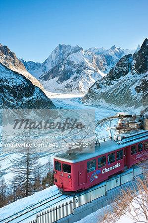 Train du Montenvers by Mer de Glace, Chamonix, Haute Savoie, French Alps, France, Europe