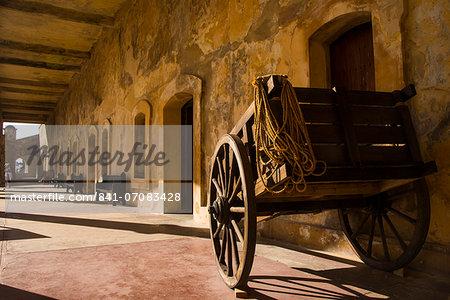Old wagon, San Felipe del Morro, UNESCO World Heritage Site, San Juan, Puerto Rico, West Indies, Caribbean, Central America