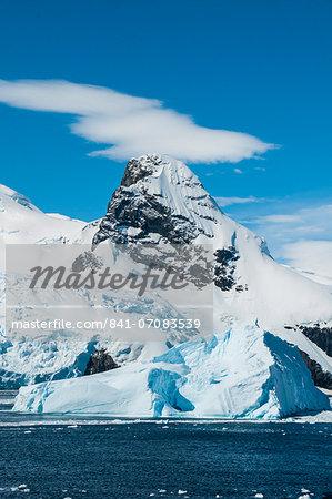Glacier and icebergs in Cierva Cove, Antarctica, Polar Regions