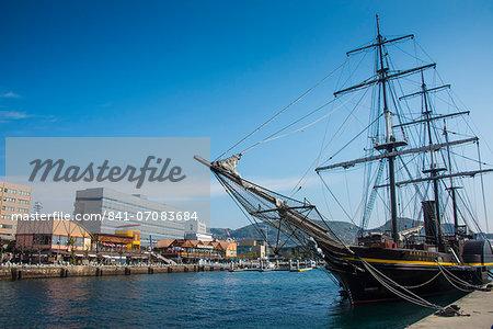 Old sailing ship, harbour of Nagasaki, Kyushu, Japan, Asia