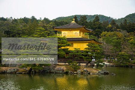 Kinkaku.Ji or golden pavillon buddhist temple,  Unesco world heritage sight Kyoto, Japan