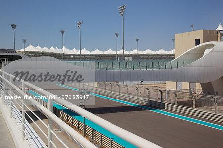 Formula 1 Racetrack, Yas Island, Abu Dhabi, United Arab Emirates, Middle East