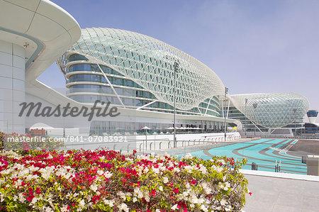 Viceroy Hotel and Formula 1 Racetrack, Yas Island, Abu Dhabi, United Arab Emirates, Middle East