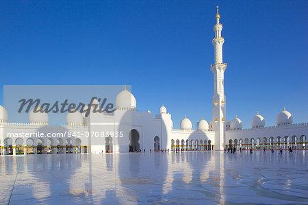 Sheikh Zayed Bin Sultan Al Nahyan Mosque, Abu Dhabi, United Arab Emirates, Middle East