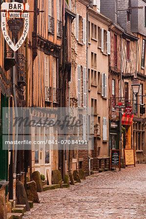 La Grande Rue in the old city of Le Mans, Sarthe, Pays de la Loire, France, Europe
