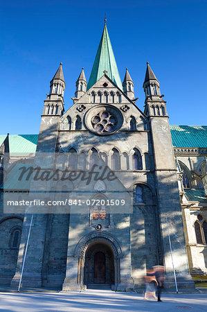 Nidaros Cathedral, Trondheim, Sor-Trondelag, Norway, Scandinavia, Europe