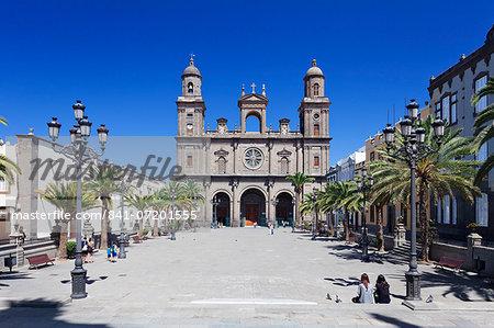 Santa Ana Cathedral, Plaza Santa Ana, Vegueta Old Town, Las Palmas, Gran Canaria, Canary Islands, Spain, Europe