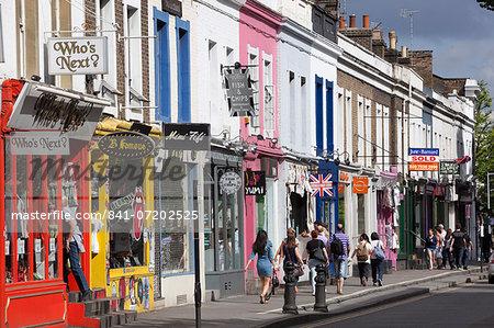 Trendy shops, Pembridge Road, Notting Hill, London, England, United Kingdom, Europe
