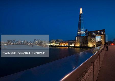 The Shard from London Bridge, London, England, United Kingdom, Europe