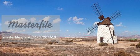Windmill, Valles de Ortega, Fuerteventura, Canary Islands, Spain, Atlantic, Europe