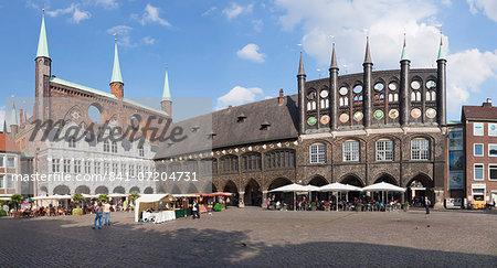 Town Hall, Lubeck, UNESCO World Heritage Site, Schleswig Holstein, Germany, Europe