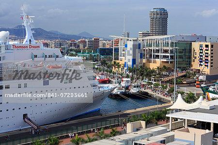Cruise ship in Santa Catalina Port, Las Palmas City, Gran Canaria Island, Canary Islands, Spain, Atlantic, Europe
