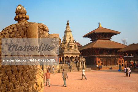 Durbar Square, Bhaktapur, UNESCO World Heritage Site, Kathmandu Valley, Nepal, Asia