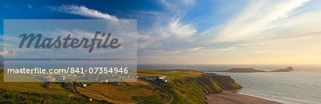 Rhossili Bay, Gower, Peninsula, Wales, United Kingdom, Europe