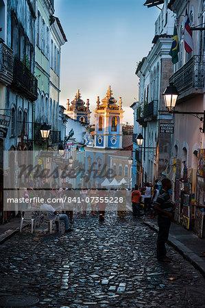 Pedestrian zone in the Pelourinho, UNESCO World Heritage Site, Salvador da Bahia, Bahia, Brazil, South America