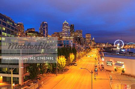 Alaskan Way, Seattle, Washington State, United States of America, North America