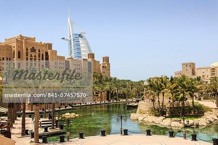 Madinat Jumeirah Hotel and Burj Al Arab, Dubai, United Arab Emirates, Middle East