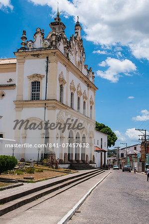 Colonial church of Nossa Senhora do Carmo in Cachoeira near Salvador da Bahia, Bahia, Brazil, South America