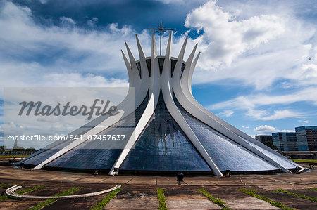 The Metropolitan Cathedral of Brasilia, UNESCO World Heritage Site, Brazil, South America
