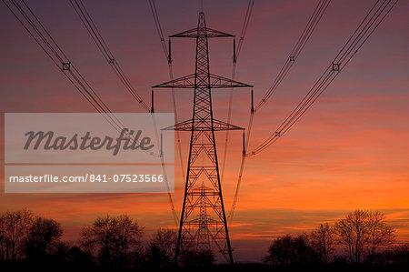 Electricity pylon near Burbage, Leicestershire, United Kingdom
