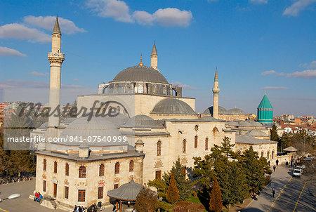 Mevlana tomb, Konya, Central Anatolia, Turkey, Asia Minor, Eurasia