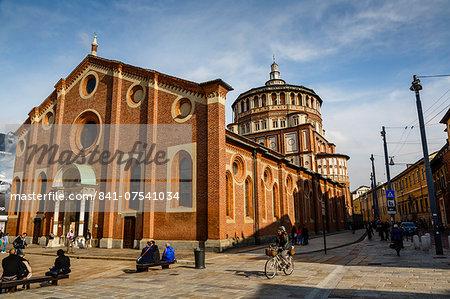 Santa Maria Delle Grazie church, Milan, Lombardy, Italy, Europe