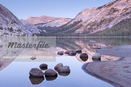 Tranquil evening tones at Tenaya Lake, Yosemite National Park, UNESCO World Heritage Site, California, United States of America, North America