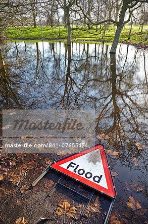Floods in Hyde Park, London, England, United Kingdom, Europe