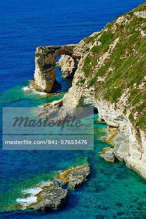 Tripitos Arch, Paxos, Paxi, Ionian Islands, Greek Islands, Greece, Europe