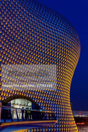 Selfridges building at twilight, Birmingham, West Midlands, England, United Kingdom, Europe