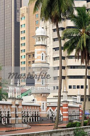 Jamek Mosque, Kuala Lumpur, Malaysia, Southeast Asia, Asia