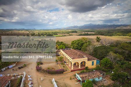 View of Hacienda from the Slave Tower, Valle de los Ingenios (Valley of the Sugar Mills), UNESCO World Heritage Site, Trinidad, Sancti Spiritus Province, Cuba, West Indies, Caribbean, Central America