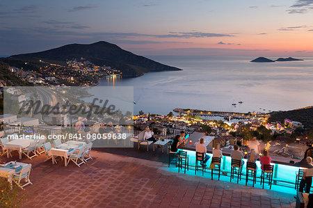 Bar and restaurant of Mediteran Hotel, Kalkan, Lycia, Antalya ...