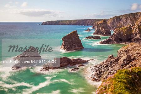 Bedruthan Steps, Newquay, Cornwall, England, United Kingdom, Europe