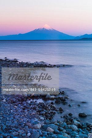 Osorno Volcano (Volcan Osorno) and Llanquihue Lake, Puerto Varas, Chile Lake District, Chile, South America
