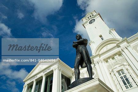 Raffles Monument, Singapore, Southeast Asia, Asia