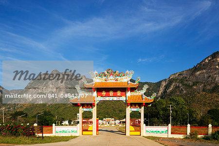 Chinese temple, Khao San Roi Yot National Park, Prachuap Kiri Khan, Thailand, Southeast Asia, Asia