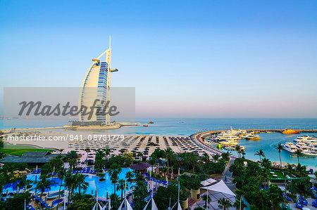 Burj Al Arab, Jumeirah Beach, Dubai, United Arab Emirates, Middle East