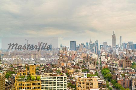 Manhattan skyline, New York City, United States of America, North America