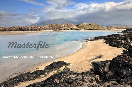 Culfin Estuary, Mweelrea Mountains, Connemara, County Galway,Connacht, Republic of Ireland, Europe