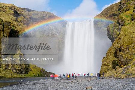 Skogar Waterfall, Skogar, Iceland, Polar Regions