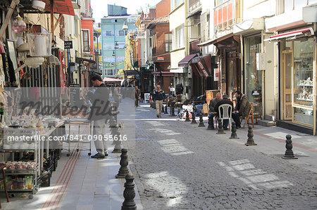 Shops selling antiques, Tellalzade Sokak (street), Kadikoy, Asian Side, Istanbul, Turkey, Anatolia, Asia Minor, Eurasia
