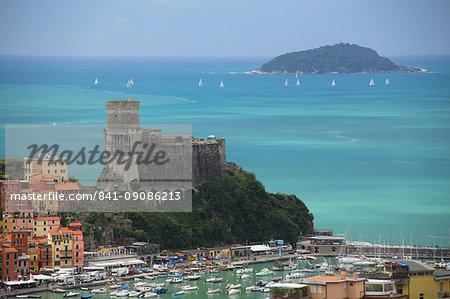 The fortress of Lerici, coast of Liguria, Italy, Europe