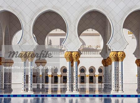 Sheikh Zayed bin Sultan Al Nahyan Grand Mosque, detailed view, Abu Dhabi, United Arab Emirates, Middle East